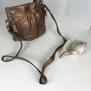 B Makowsky Bronze Metallic crossbody bag
